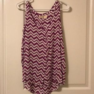 Chevron button tank